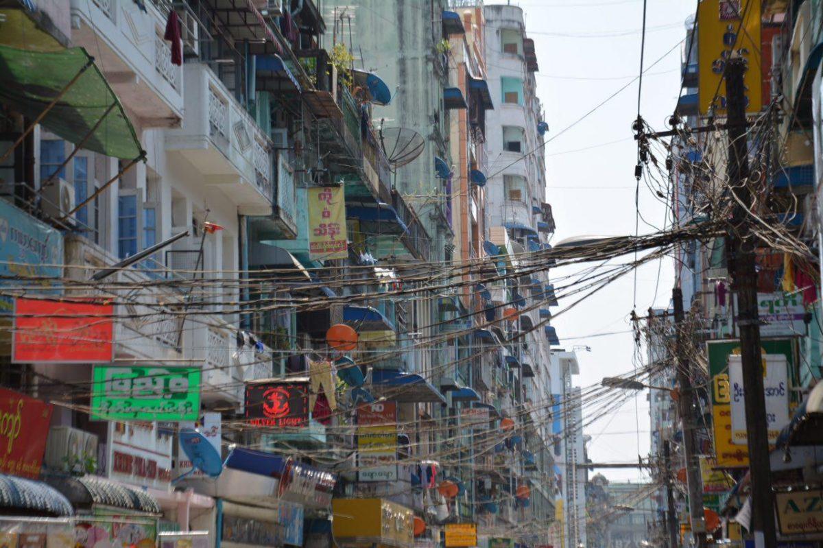 سیم کشی های یانگون پایتخت برمه