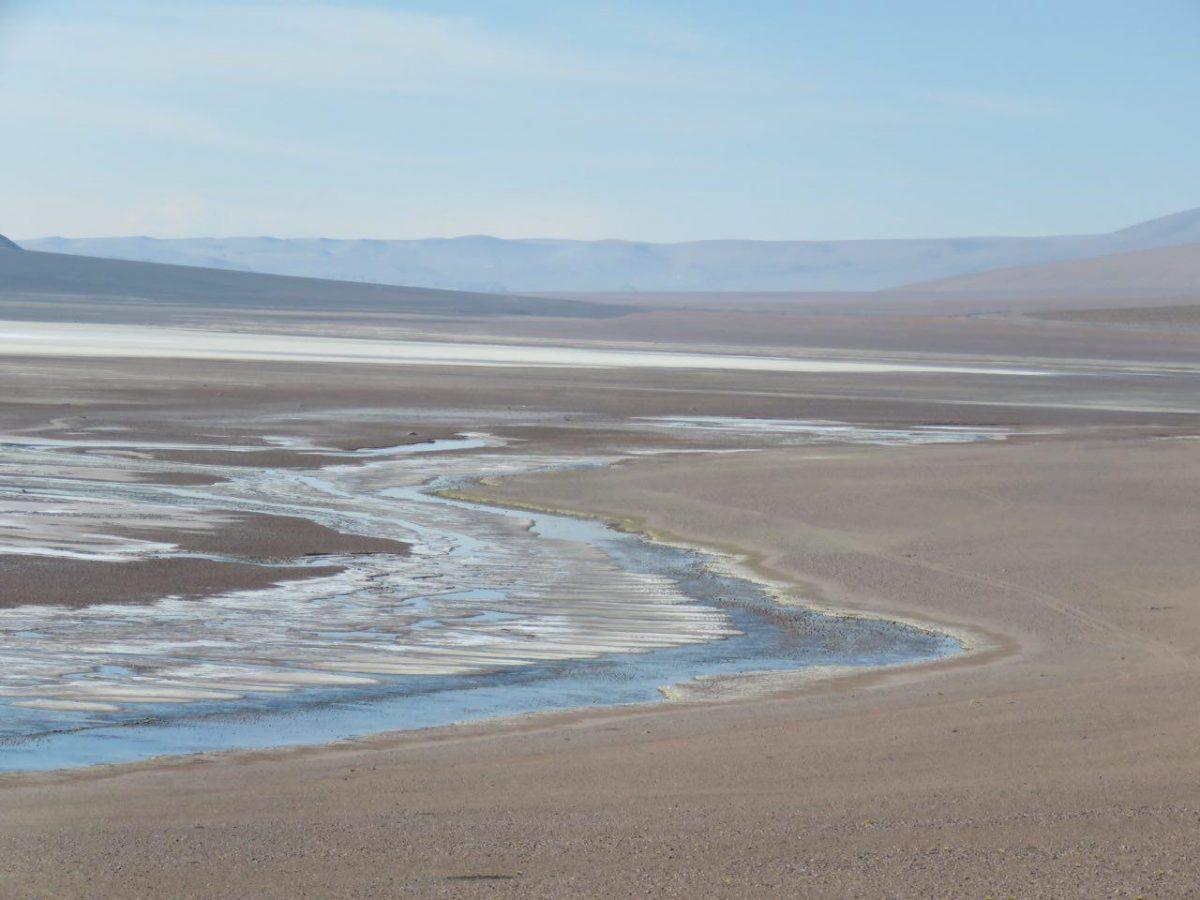 آخرین بخش های صحرای آتاکاما، دریاچه ها و رودهای نمکی، می آیند و می روند و من به مرز نزدیکتر می شوم، مرز، همان خطوط فرضی که ملت ها را از هم جدا ساخته است و قصه های تلخ و شیرین زیادی دارد.