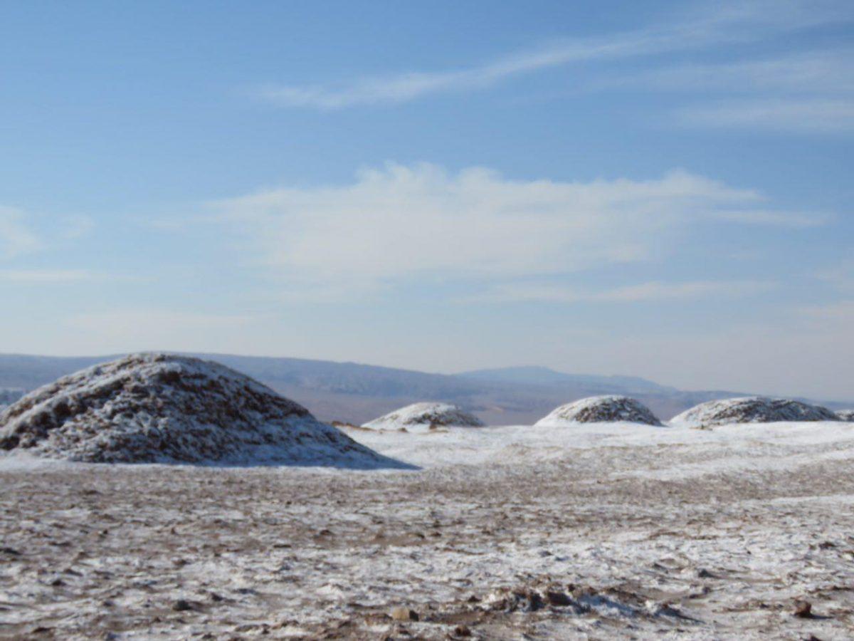 انگار برف باریده است روی دشت و تپه های هم شکلش، برفی نه به شیرینی آب که به شوری نمک.
