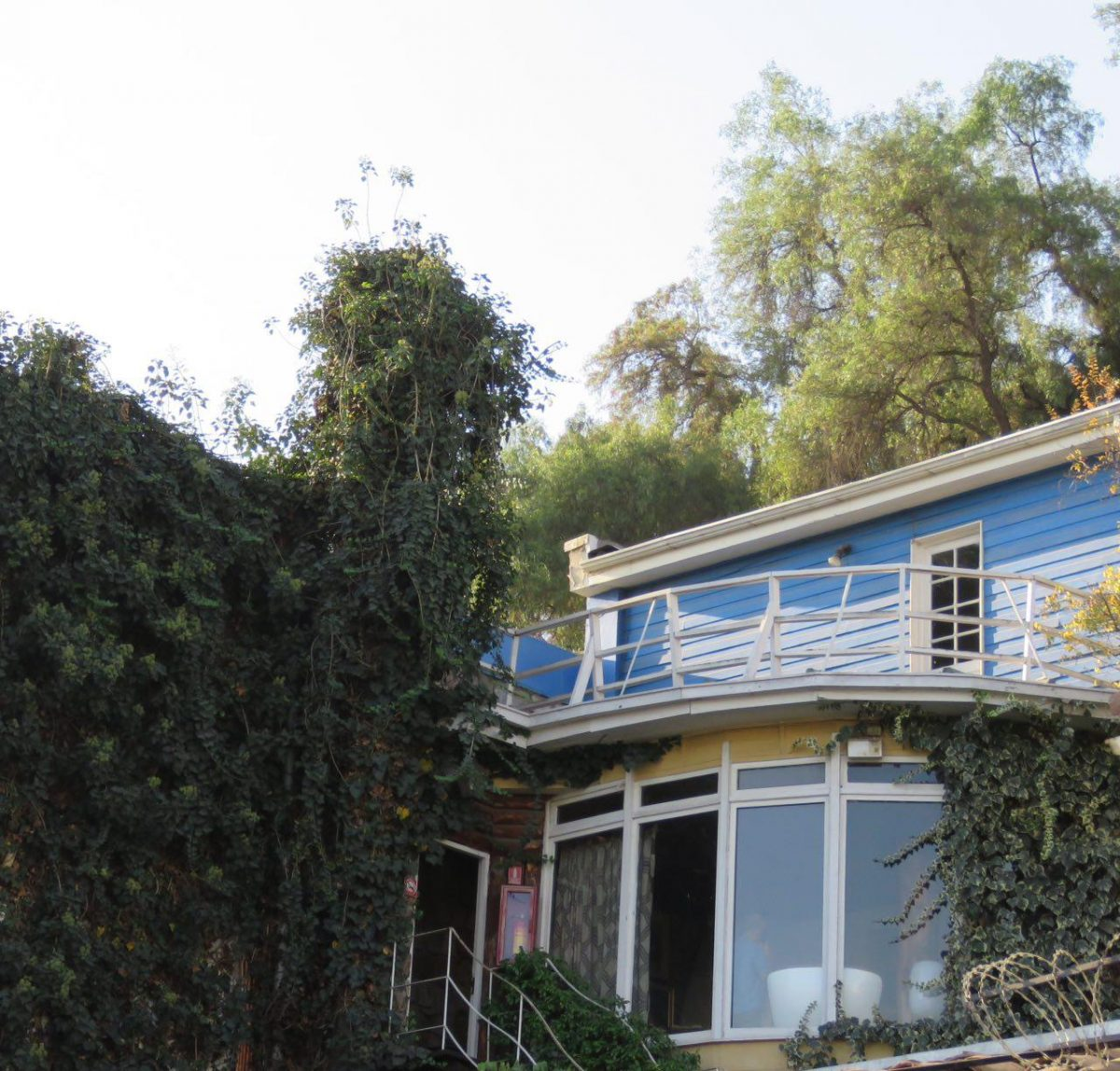 نمایی از خانه پابلو نرودا در مرکز شهر سانتیاگوی شیلی