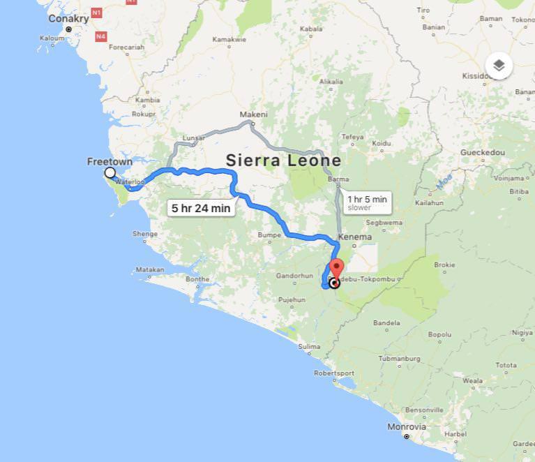 این هم میشود مسیر پیموده شده من در کشور سیرالئون