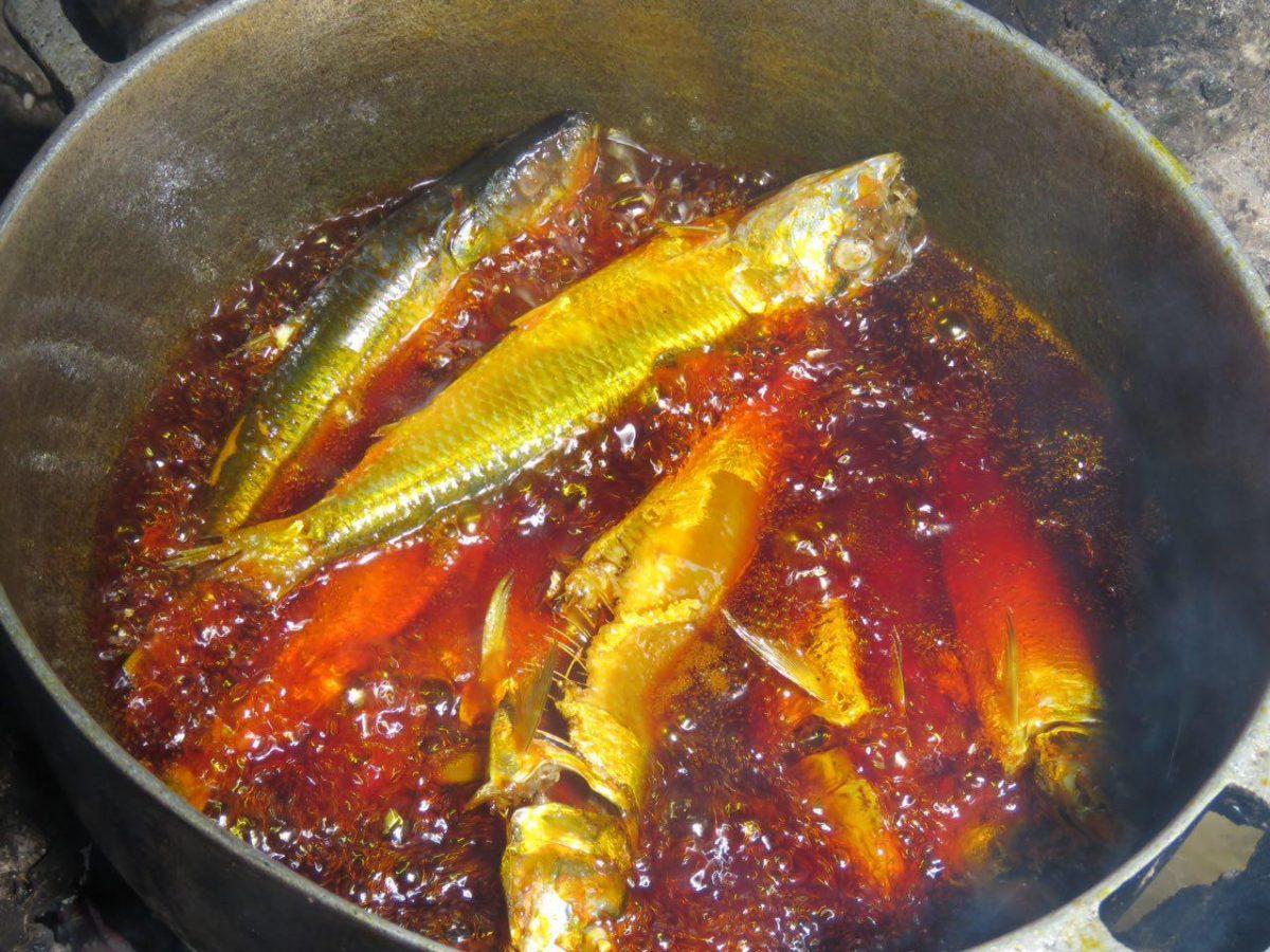 می توانید تصور کنید ماهی هایی که در روغن قرمز رنگ پالم سرخ می شوند چه طعمی دارند؟ من اما حالا به خوبی می دانم و می شناسم مزه و طعمش را