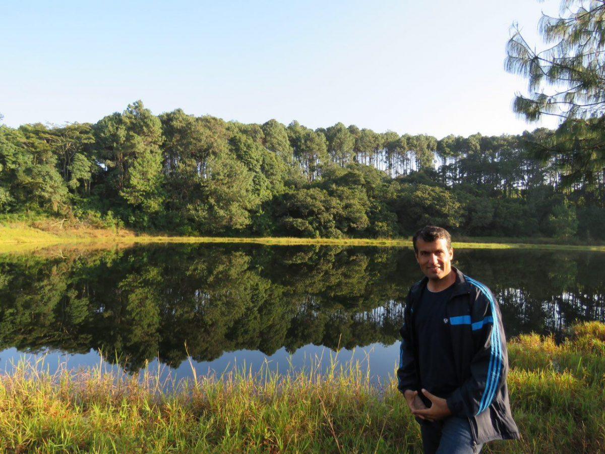 دریاچه ها اما در این صبح دل انگیز بیشتر دلبری کی کنند، احاطه شده اند با درختان جنگلی و تمام و کمال انعکاس داده اند هر آنچه را بر سر دارند، قوانین فیزیک و انعکاس نور را بهتر می شود فهمید اینجا!